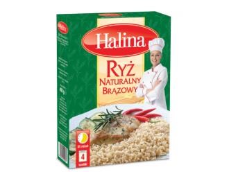 Ryż Naturalny Brązowy marki Halina – moc pełnego ziarna