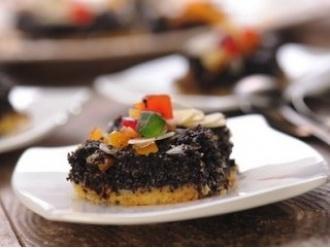 Ciasto makowe z cukrem pudrem