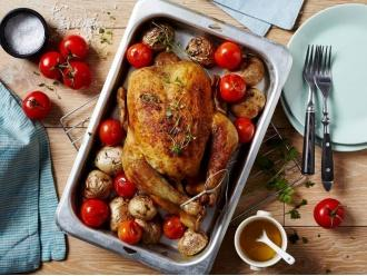 Pieczony kurczak z pomidorami