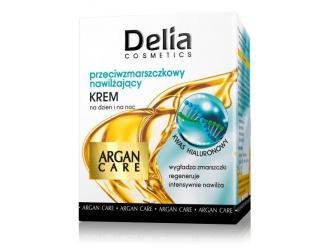 Delia Cosmetics Argan Care - Przeciwzmarszczkowy, nawilżający krem na dzień i na noc z olejem arganowym i kwasem hialuronowym