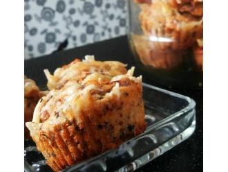 Bezglutenowe przekąski na słono - pyszne wilgotne bezglutenowe muffiny a'la pizza