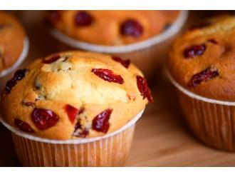 Jesienne muffinki z suszoną żurawiną
