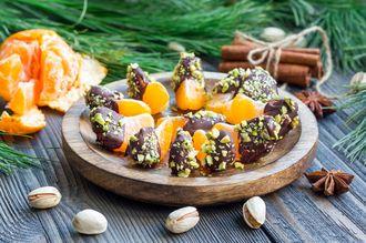 Pomarańcze w czekoladzie z pistacjami