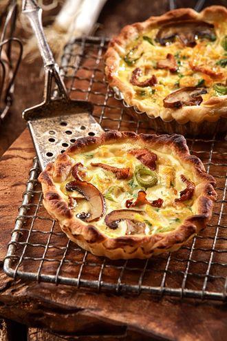 Przepis kulinarny na aromatyczną Tartę z grzybami