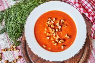 Zupa krem z krewetkami i koprem
