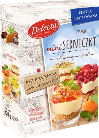 Dużo przyjemności z małych słodkości - Mini serniczki Delecta