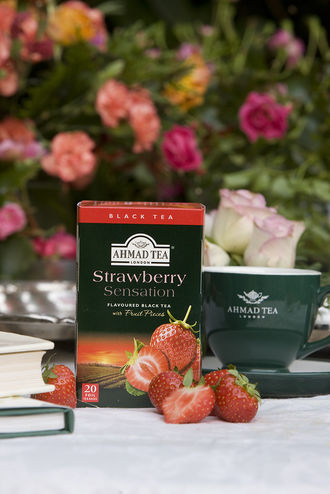 Herbata z truskawkami