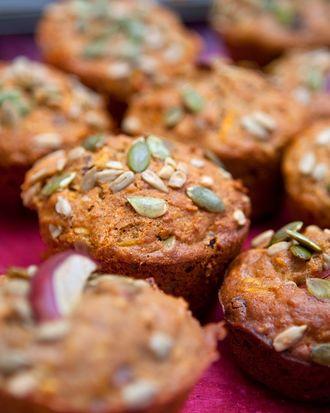 Muffiny marchewkowe z pestkami dyni i słonecznika